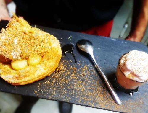 Tarta Caliente de manzana con crema de natillas